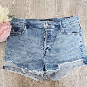 Express • Vintage High Rise Denim Shorts   Size 8